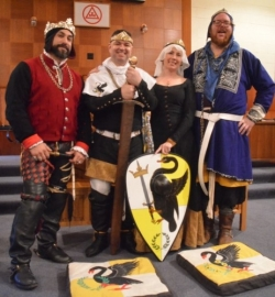 King Hans, Prince Kith, Princess Arianwen, Prince Tuomas Photo by Baron Joel the Brewer